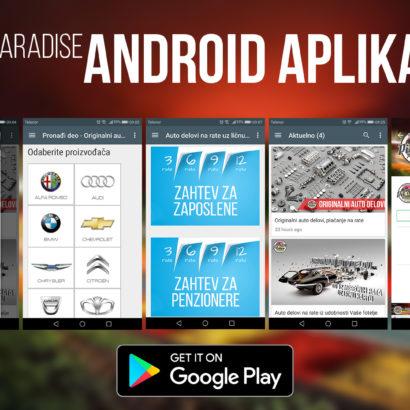 Pit Stop Paradise Android aplikacija